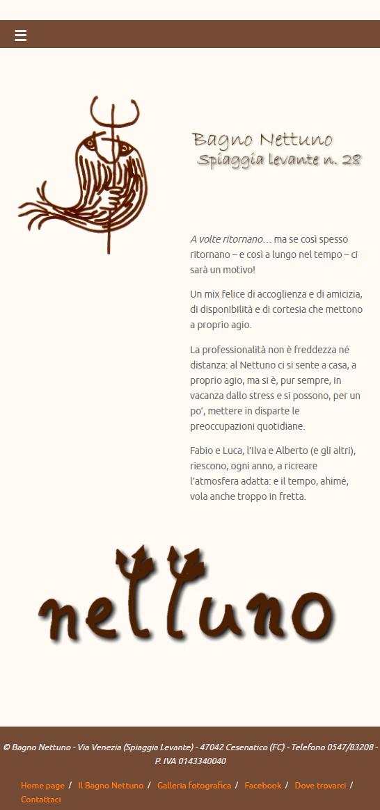 Bagno Nettuno - Home Page - Mobile