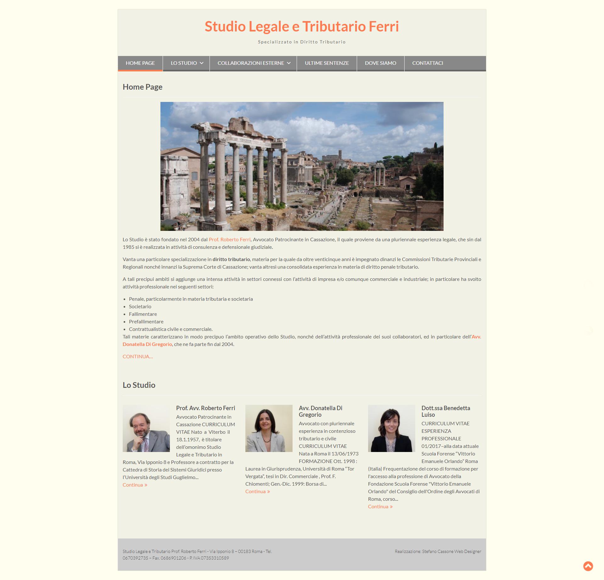 Studio Legale e Tributario Ferri - Home Page